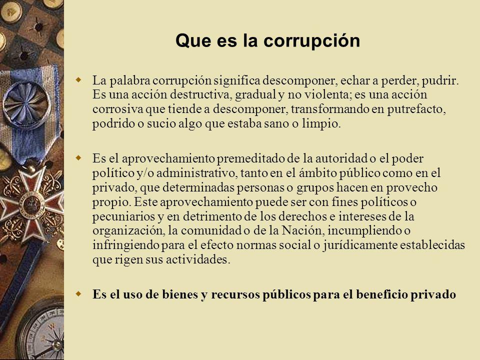 Que es la corrupción