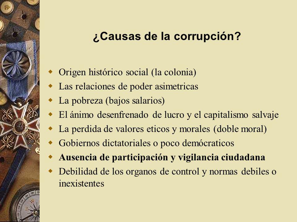 ¿Causas de la corrupción