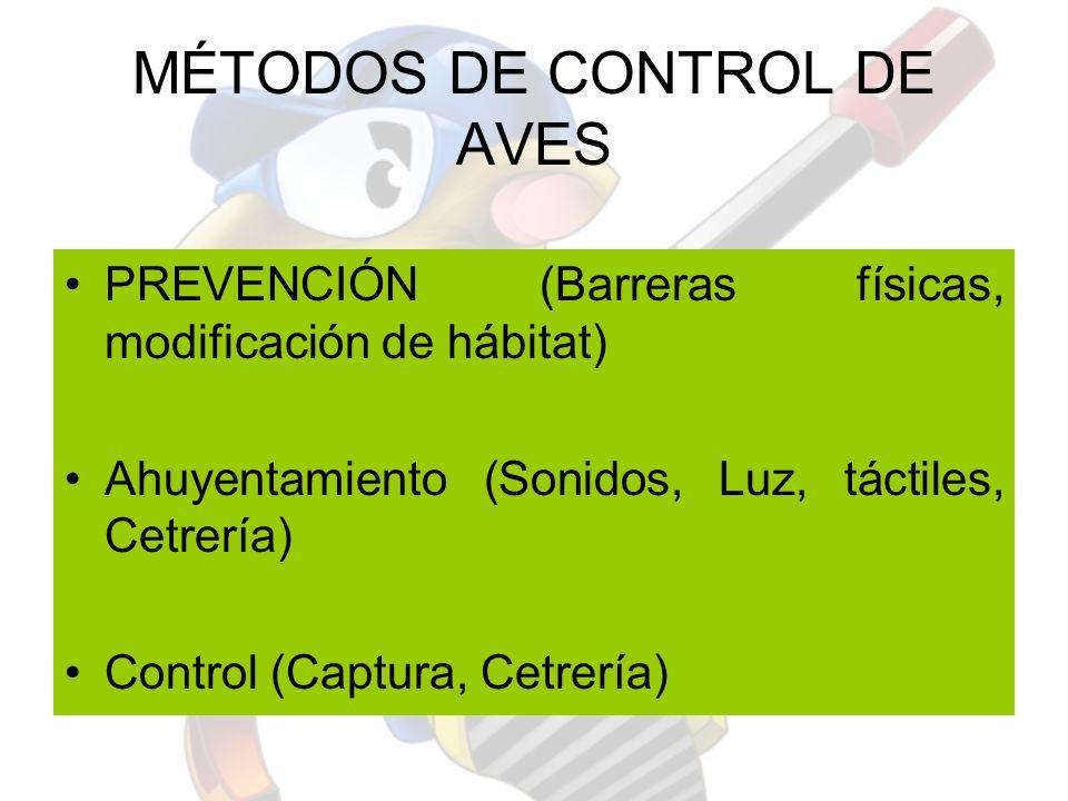 MÉTODOS DE CONTROL DE AVES