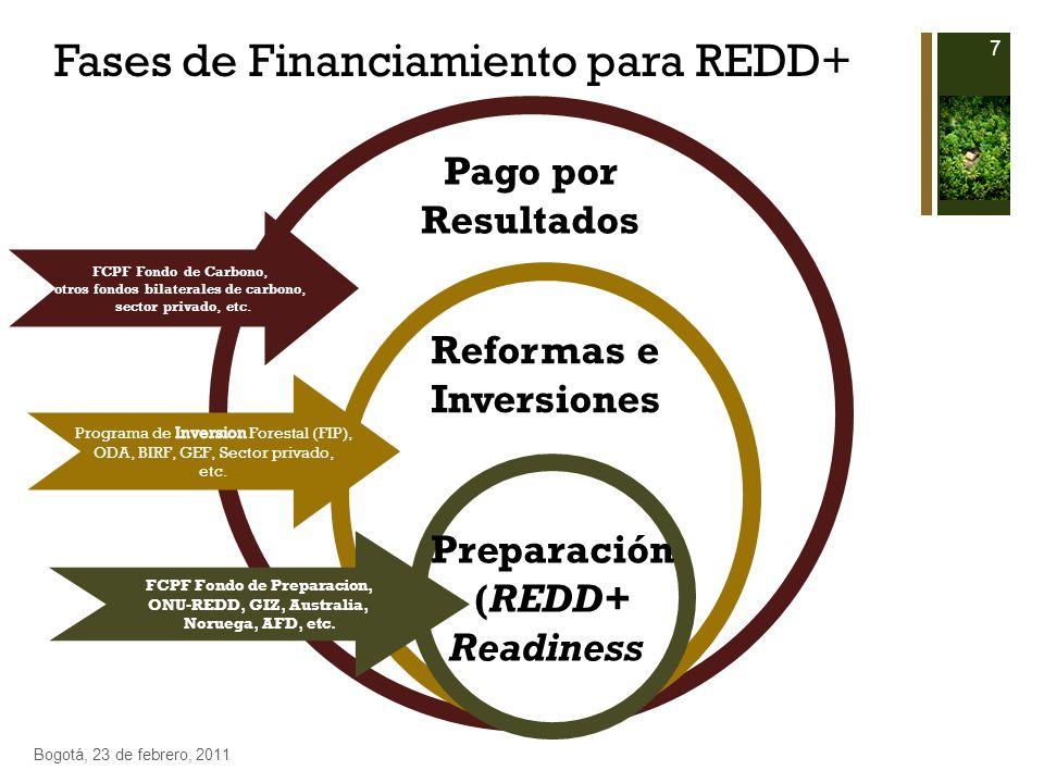 Fases de Financiamiento para REDD+