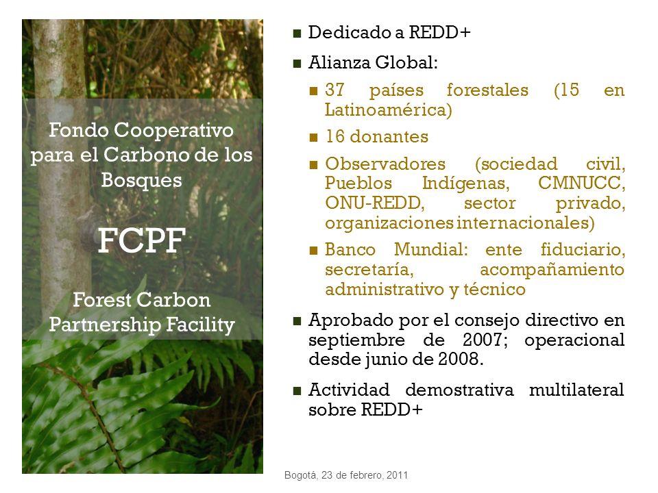 Dedicado a REDD+ Alianza Global: 37 países forestales (15 en Latinoamérica) 16 donantes.