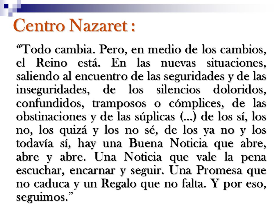 Centro Nazaret :