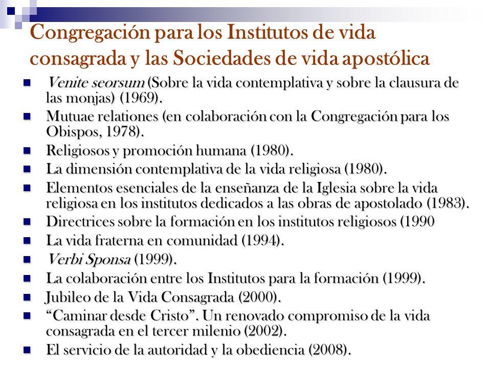 Congregación para los Institutos de vida consagrada y las Sociedades de vida apostólica