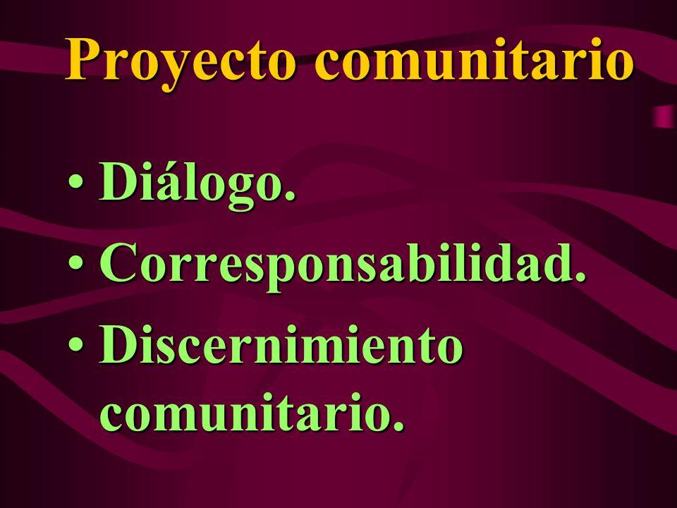 Diálogo. Corresponsabilidad. Discernimiento comunitario.