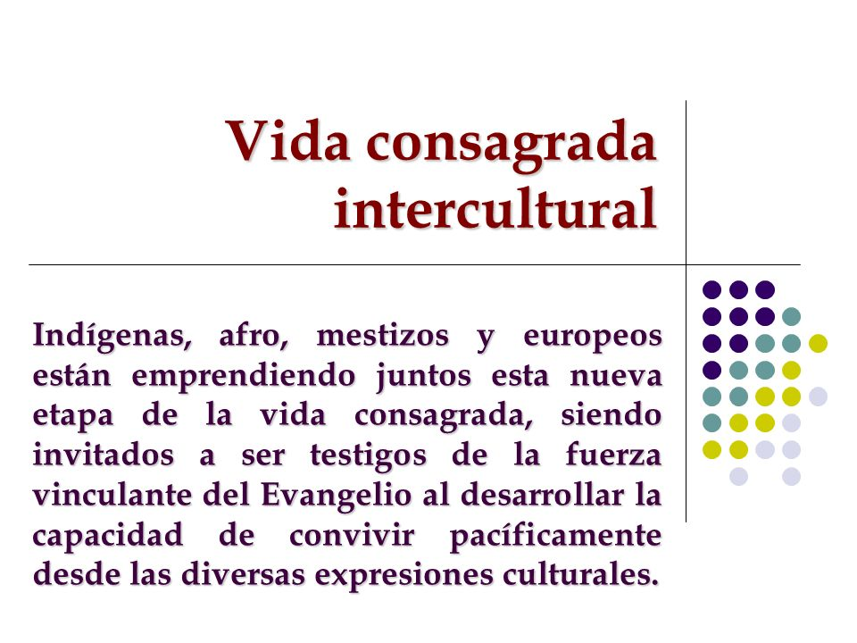 Vida consagrada intercultural
