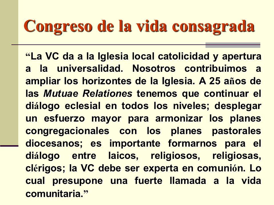 Congreso de la vida consagrada