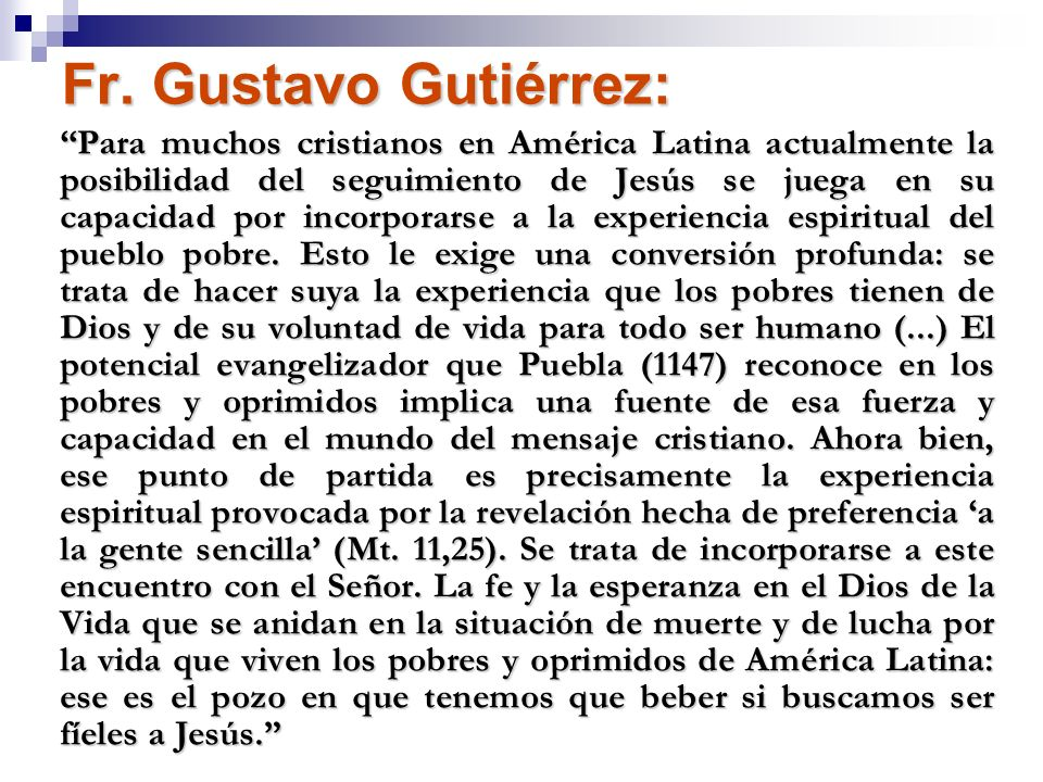 Fr. Gustavo Gutiérrez: