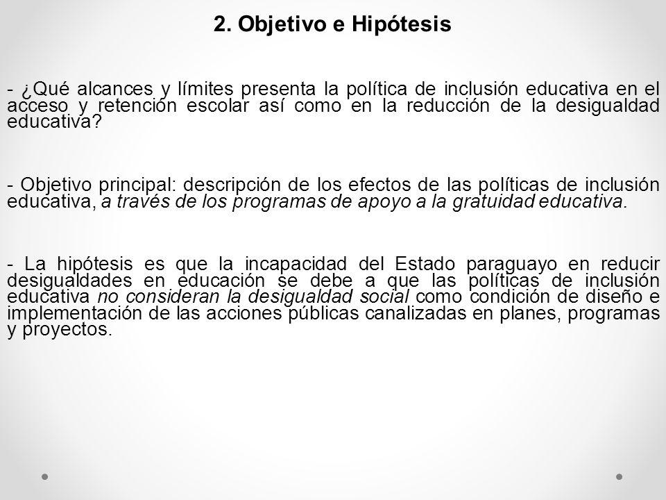 2. Objetivo e Hipótesis