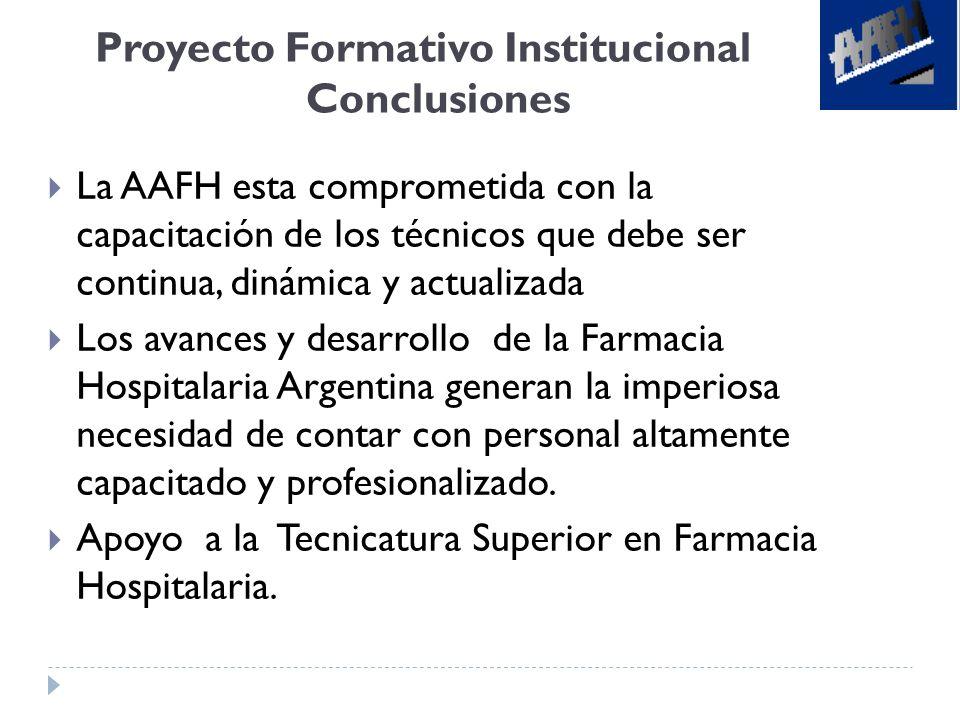 Proyecto Formativo Institucional Conclusiones