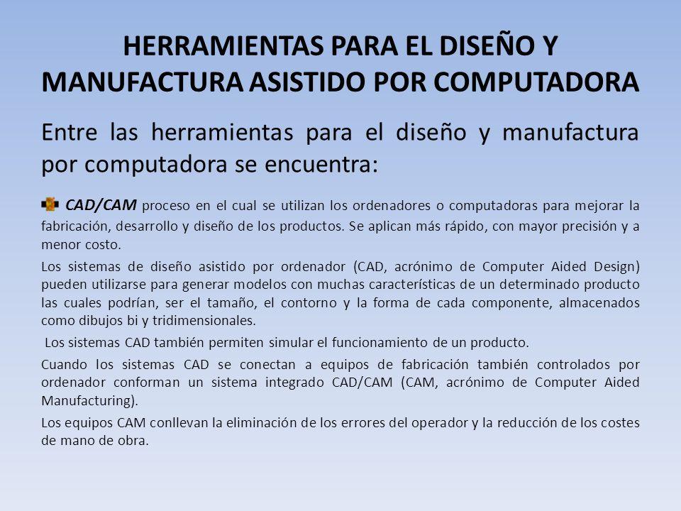 HERRAMIENTAS PARA EL DISEÑO Y MANUFACTURA ASISTIDO POR COMPUTADORA