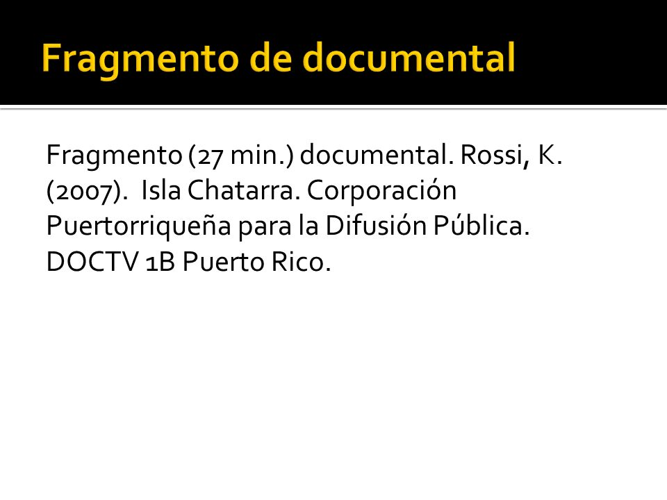 Fragmento de documental