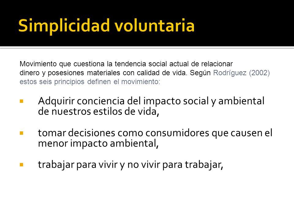 Simplicidad voluntaria