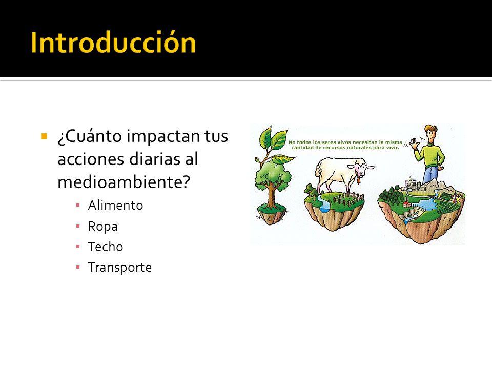 Introducción ¿Cuánto impactan tus acciones diarias al medioambiente