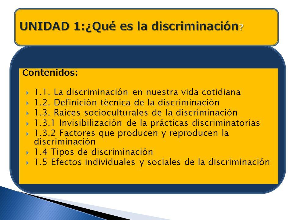 UNIDAD 1:¿Qué es la discriminación