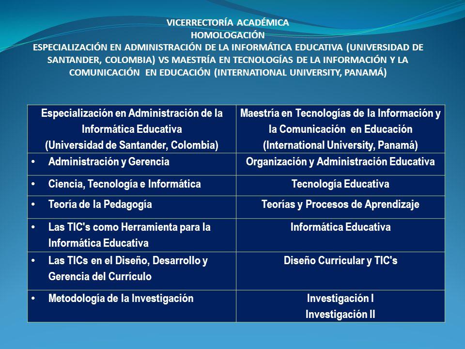 Especialización en Administración de la Informática Educativa