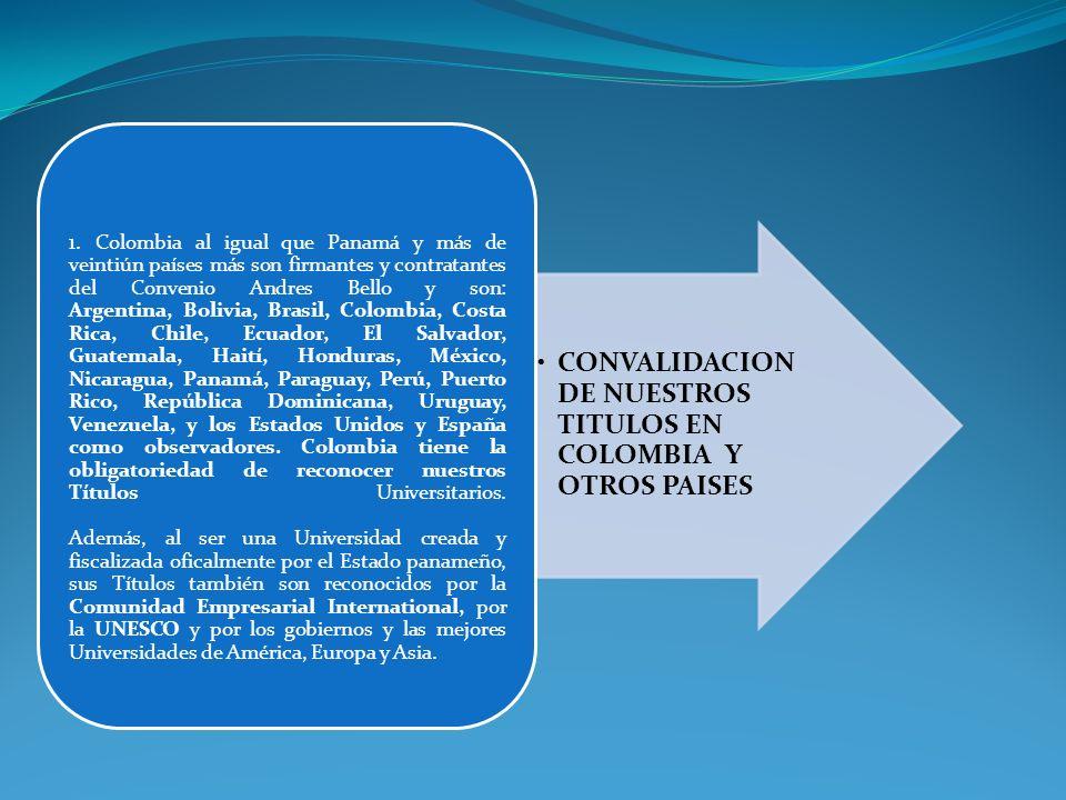 CONVALIDACION DE NUESTROS TITULOS EN COLOMBIA Y OTROS PAISES