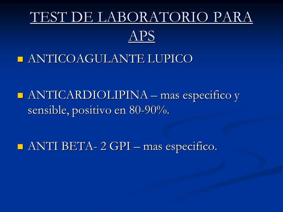 TEST DE LABORATORIO PARA APS