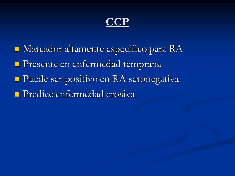 CCP Marcador altamente especifico para RA