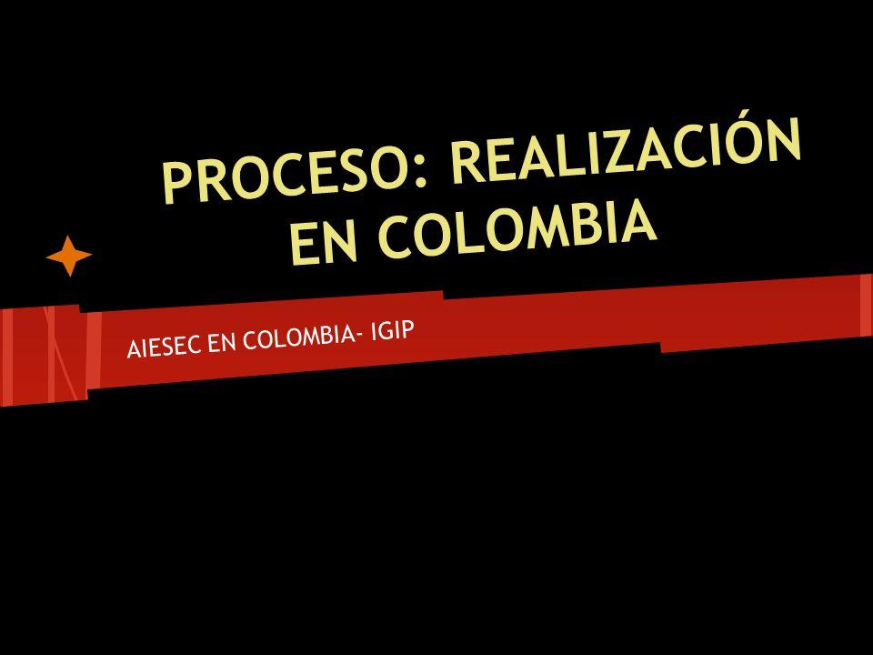 PROCESO: REALIZACIÓN EN COLOMBIA