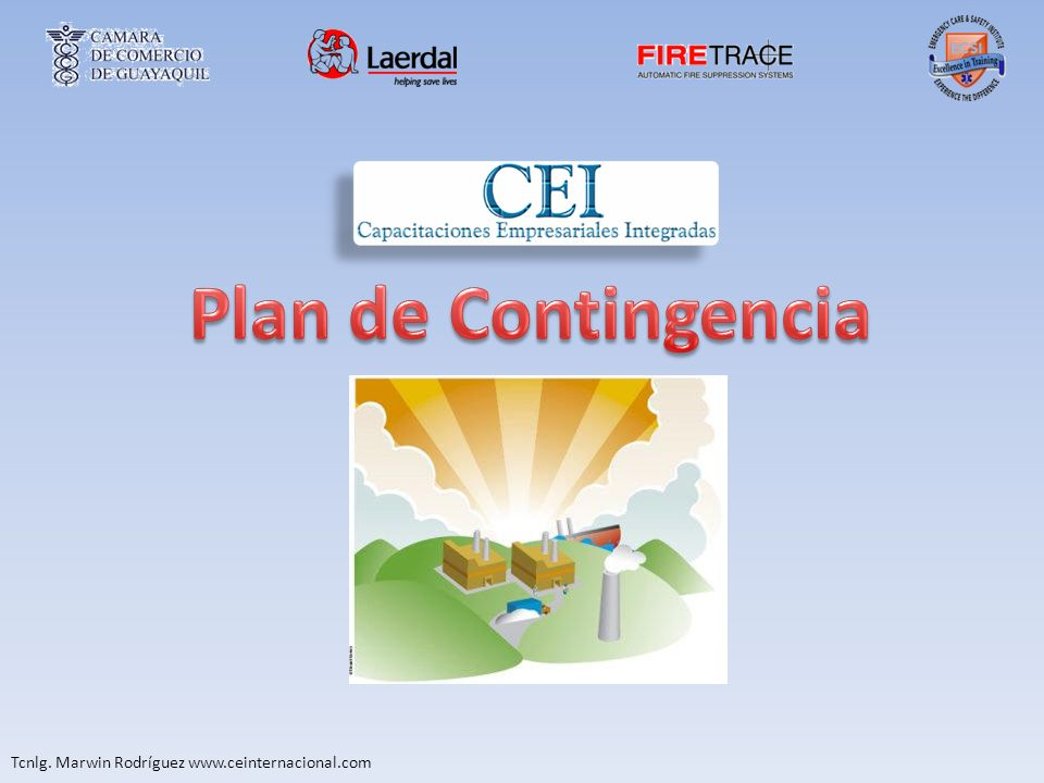 Plan de Contingencia Tcnlg. Marwin Rodríguez www.ceinternacional.com