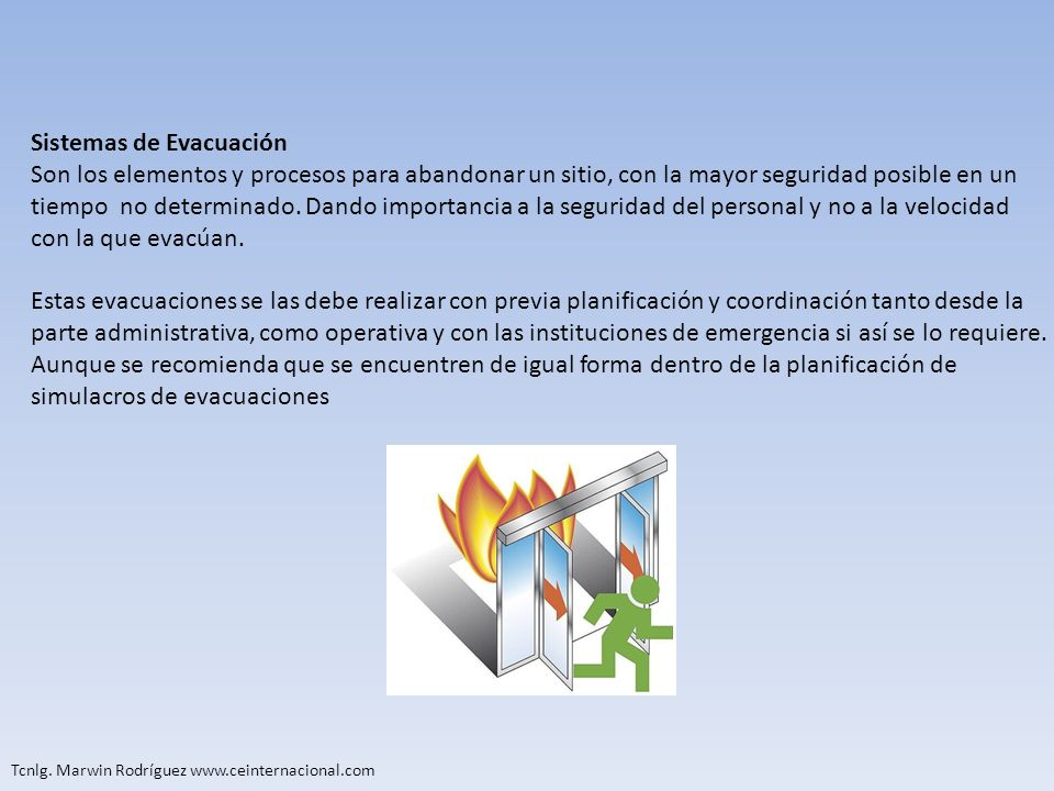 Sistemas de Evacuación