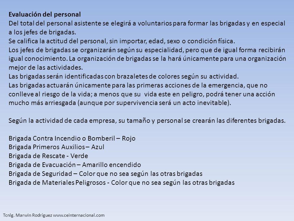 Evaluación del personal