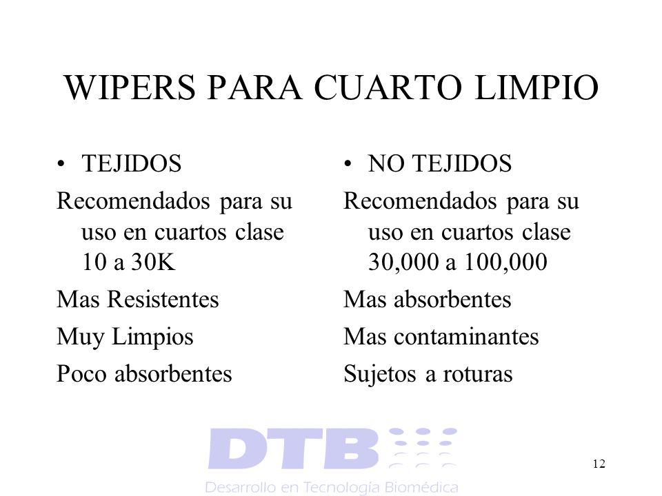 WIPERS PARA CUARTO LIMPIO