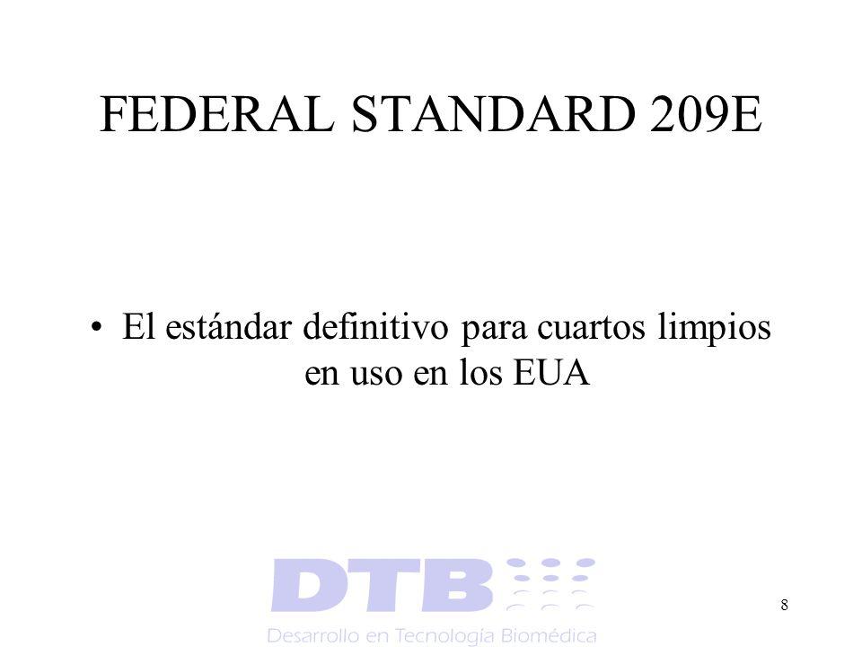 El estándar definitivo para cuartos limpios en uso en los EUA