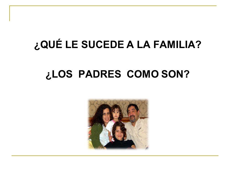 ¿QUÉ LE SUCEDE A LA FAMILIA