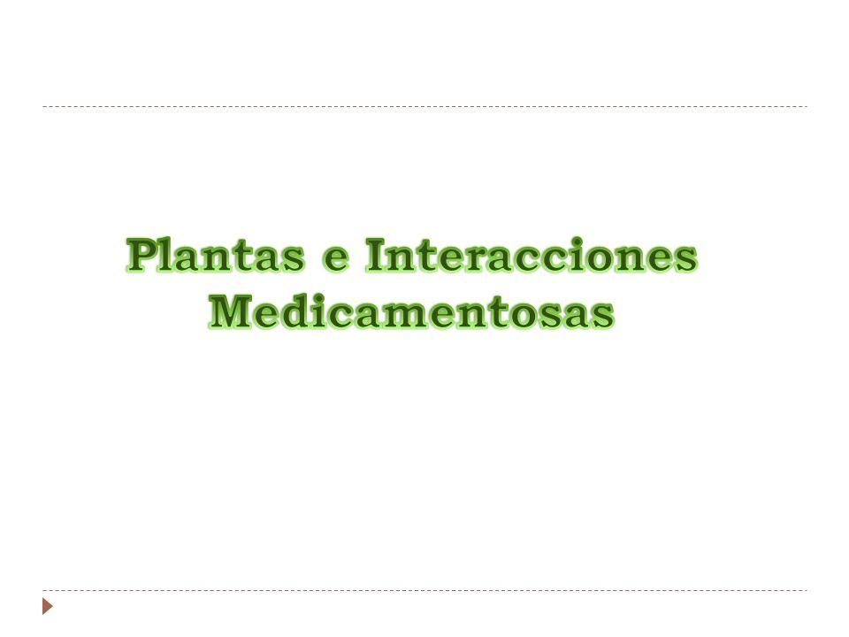 Plantas e Interacciones Medicamentosas