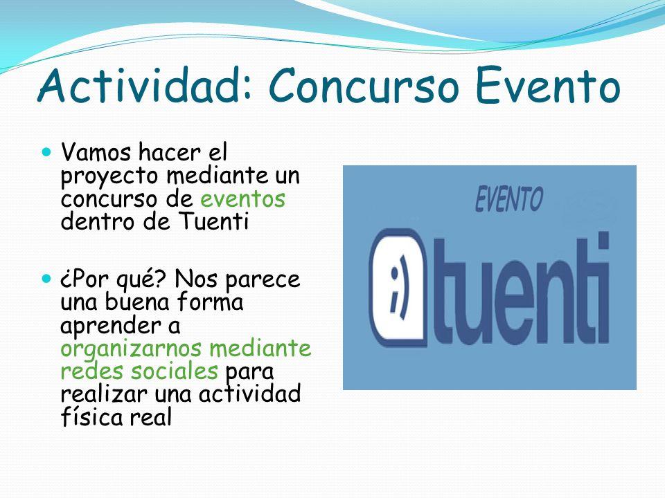 Actividad: Concurso Evento