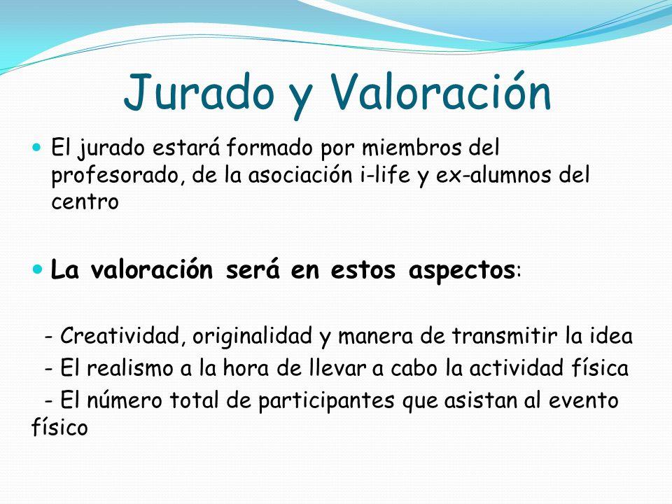 Jurado y Valoración La valoración será en estos aspectos: