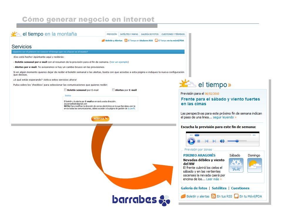 Cómo generar negocio en internet