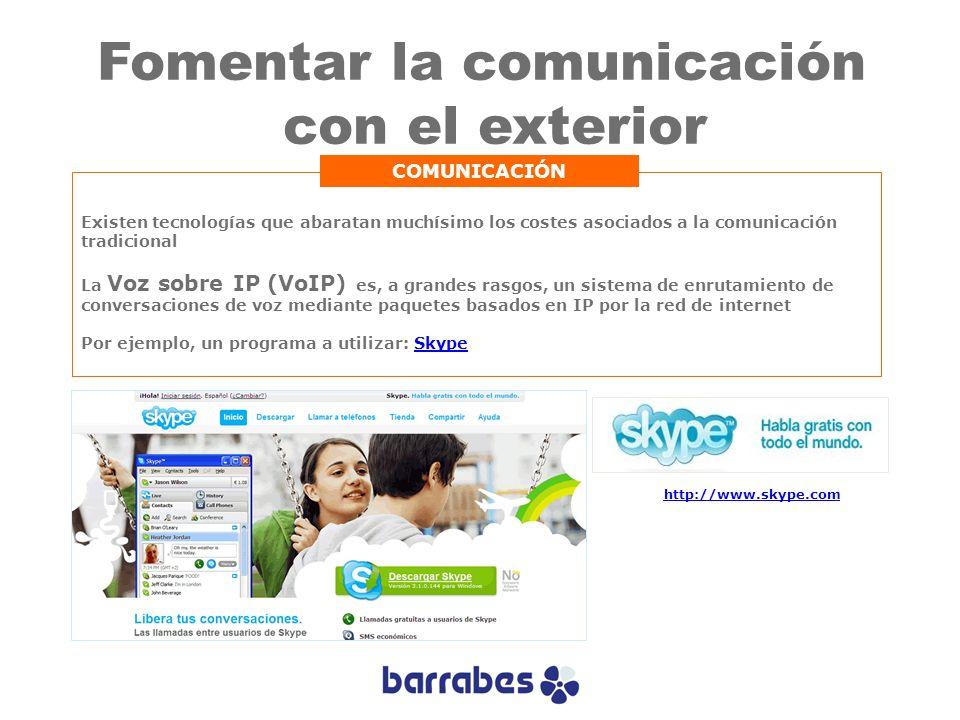 Fomentar la comunicación con el exterior