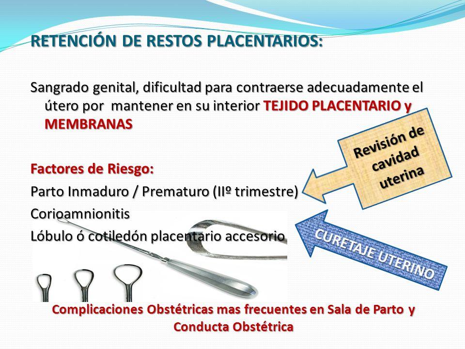 Revisión de cavidad uterina