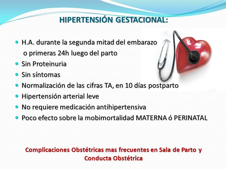 HIPERTENSIÓN GESTACIONAL: