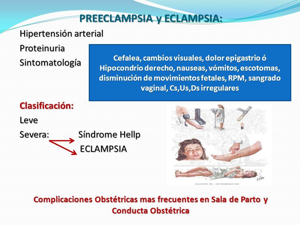 PREECLAMPSIA y ECLAMPSIA: