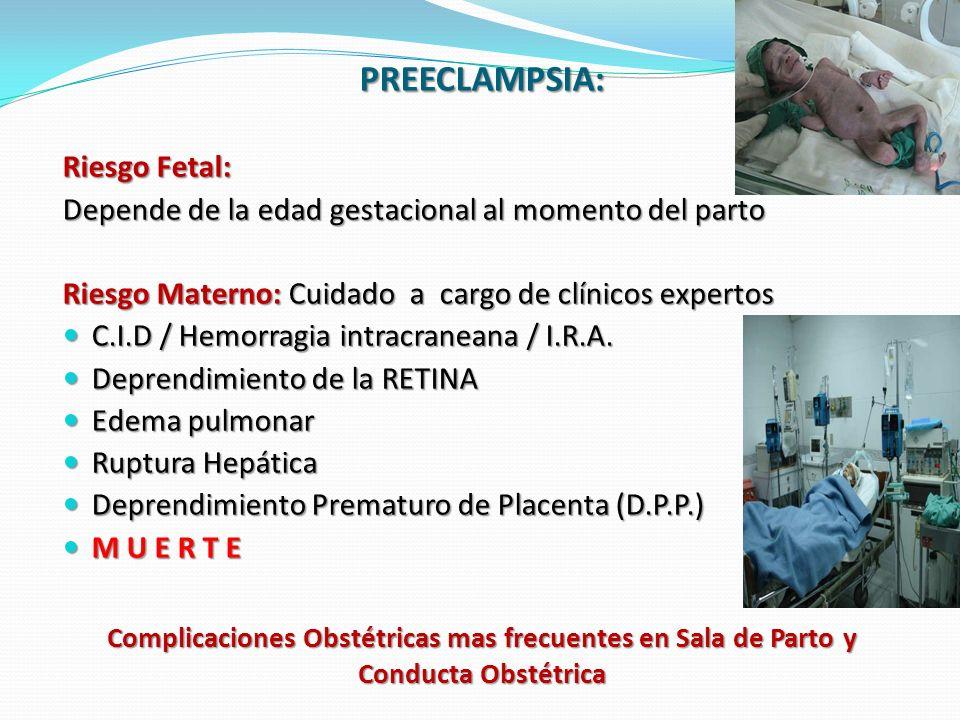 PREECLAMPSIA: Riesgo Fetal: