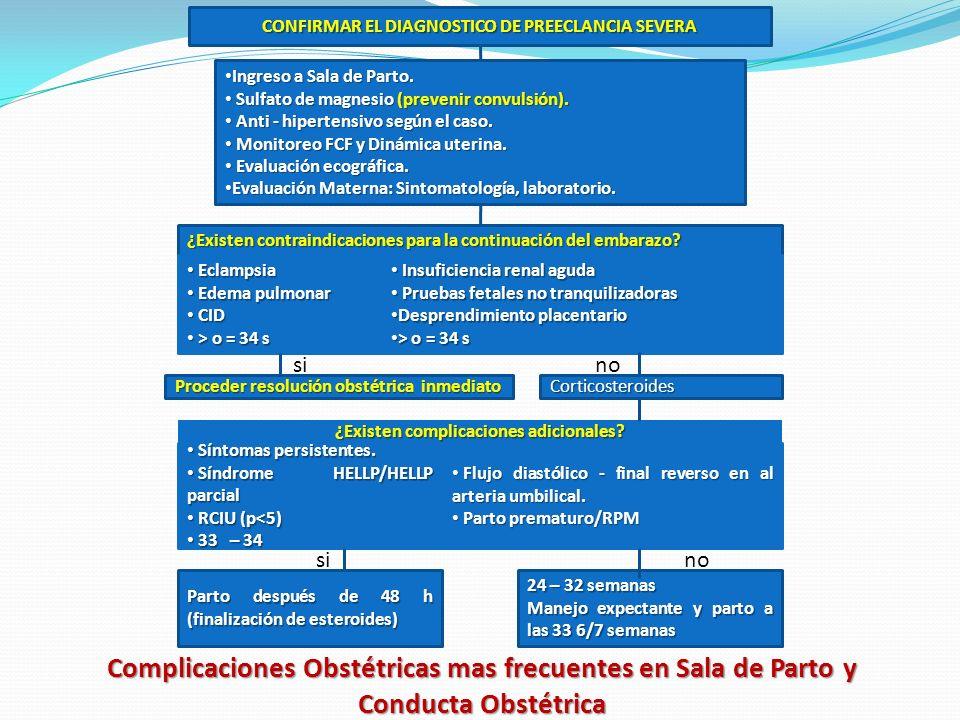 CONFIRMAR EL DIAGNOSTICO DE PREECLANCIA SEVERA