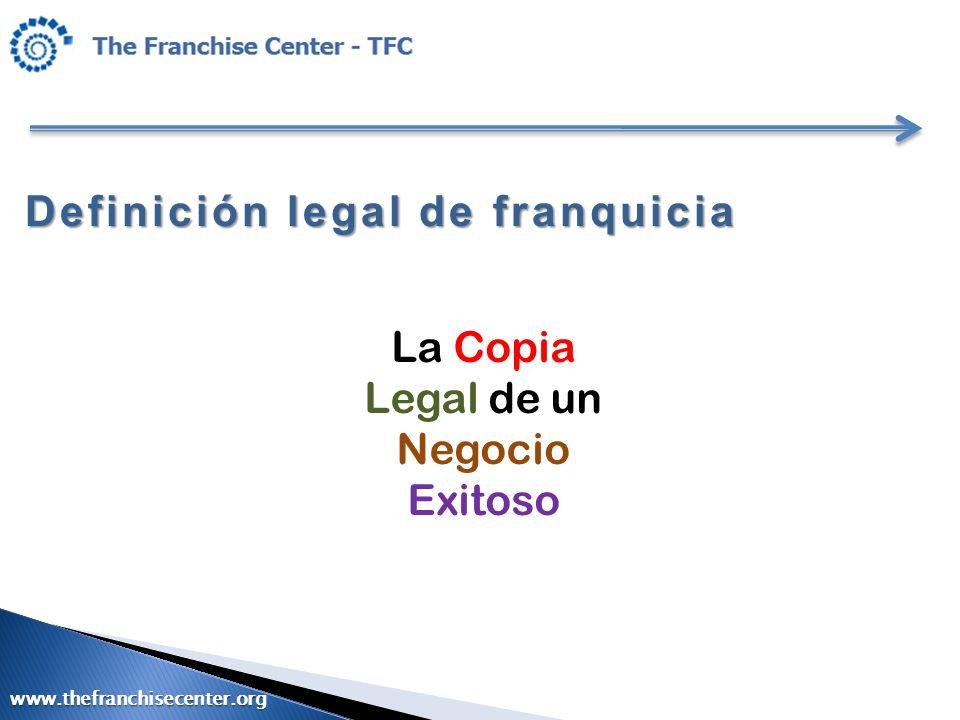 Definición legal de franquicia