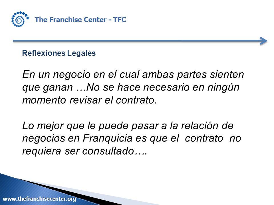 Reflexiones Legales En un negocio en el cual ambas partes sienten que ganan …No se hace necesario en ningún momento revisar el contrato.