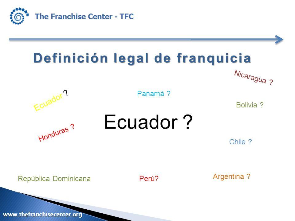 Ecuador Definición legal de franquicia Ecuador Nicaragua