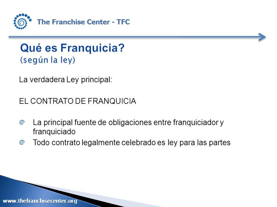 Qué es Franquicia (según la ley)
