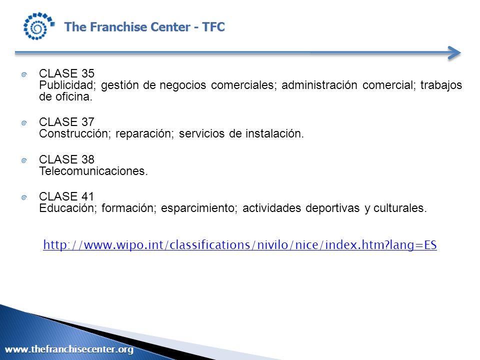 CLASE 37 Construcción; reparación; servicios de instalación.