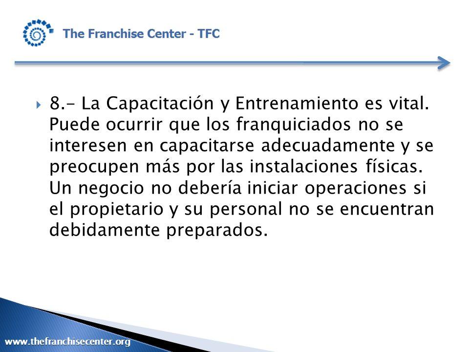 8. - La Capacitación y Entrenamiento es vital