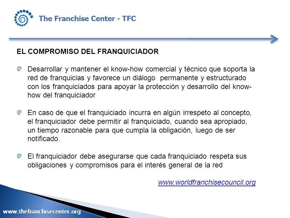 EL COMPROMISO DEL FRANQUICIADOR