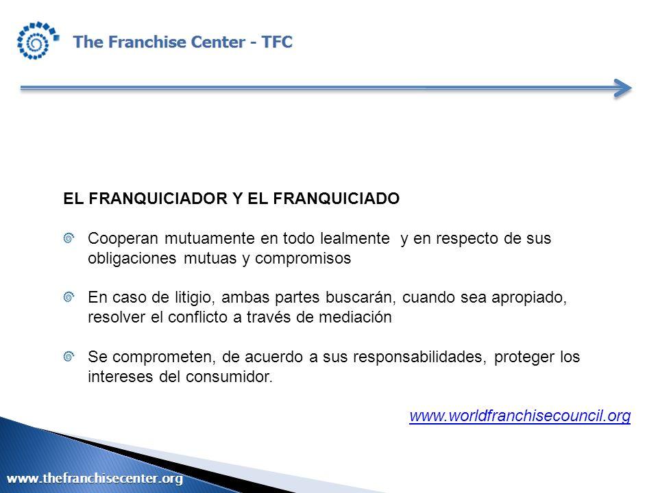 EL FRANQUICIADOR Y EL FRANQUICIADO