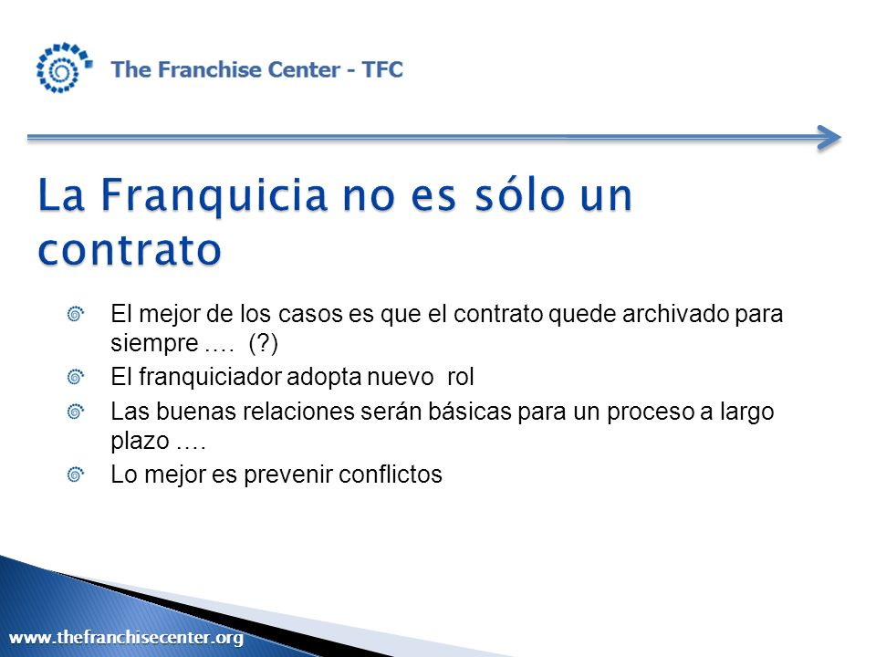 La Franquicia no es sólo un contrato