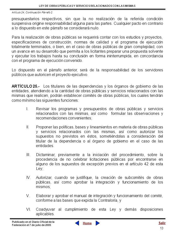 Artículo 24, Continuación Párrafo 2.
