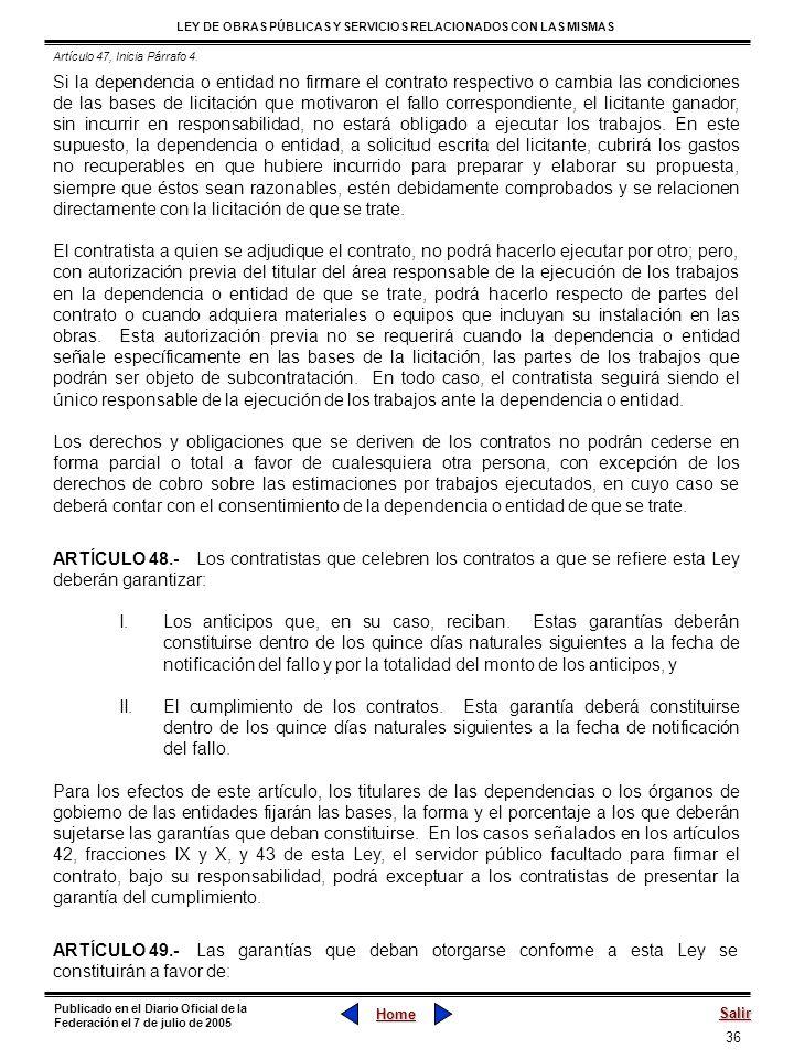 Artículo 47, Inicia Párrafo 4.